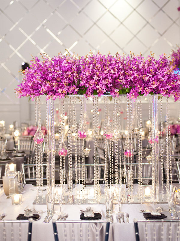 Check out this gorgeous wedding centerpiece idea that was created ...