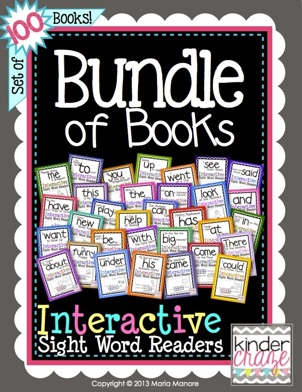 Bundle of Books… 100 emergent readers in one giant bundle!
