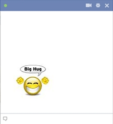 Big Hug Smiley For Facebook Chat