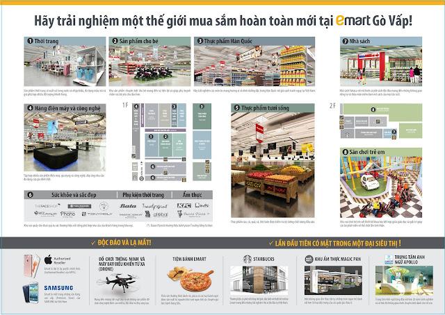 Một số sản phẩm dịch vụ tại Siêu thị Emart Hàn Quốc