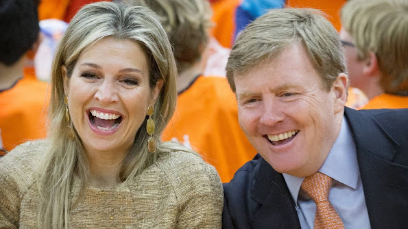 King Willem Alexander of the Netherlands and Queen Maxima of the Netherlands attend the opening of the King's Games 2015 (Koningsspelen 2015) in Leiden.