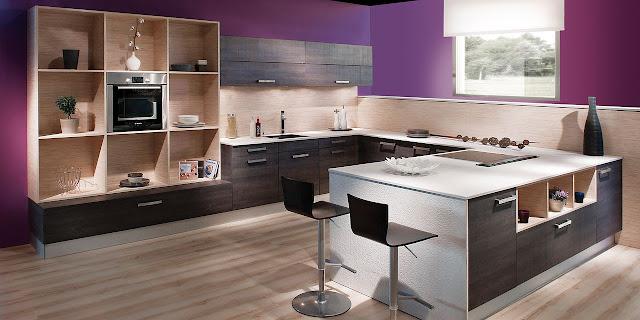 cuisine avec fa ades effet tiss et id es d co. Black Bedroom Furniture Sets. Home Design Ideas