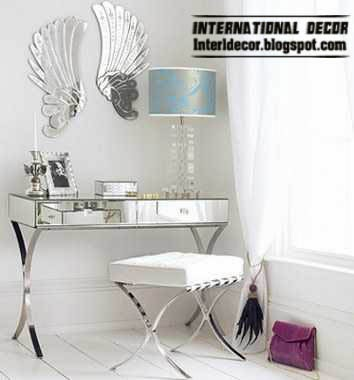 mirrored furniture, mirrored dressing table