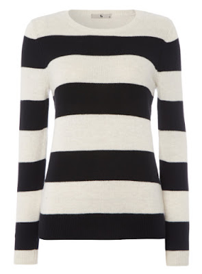 Sainsburys TU Clothing Womens Black and White Striped Jumper