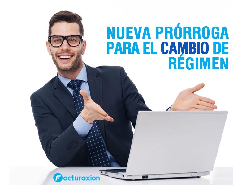 NUEVA PRÓRROGA PARA EL CAMBIO DE RÉGIMEN.