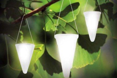 Hanging Solar Garden Light Cornet Shaped Solar Lights