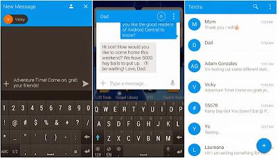 Textra SMS - Aplikasi SMS Android bergaya Material Design