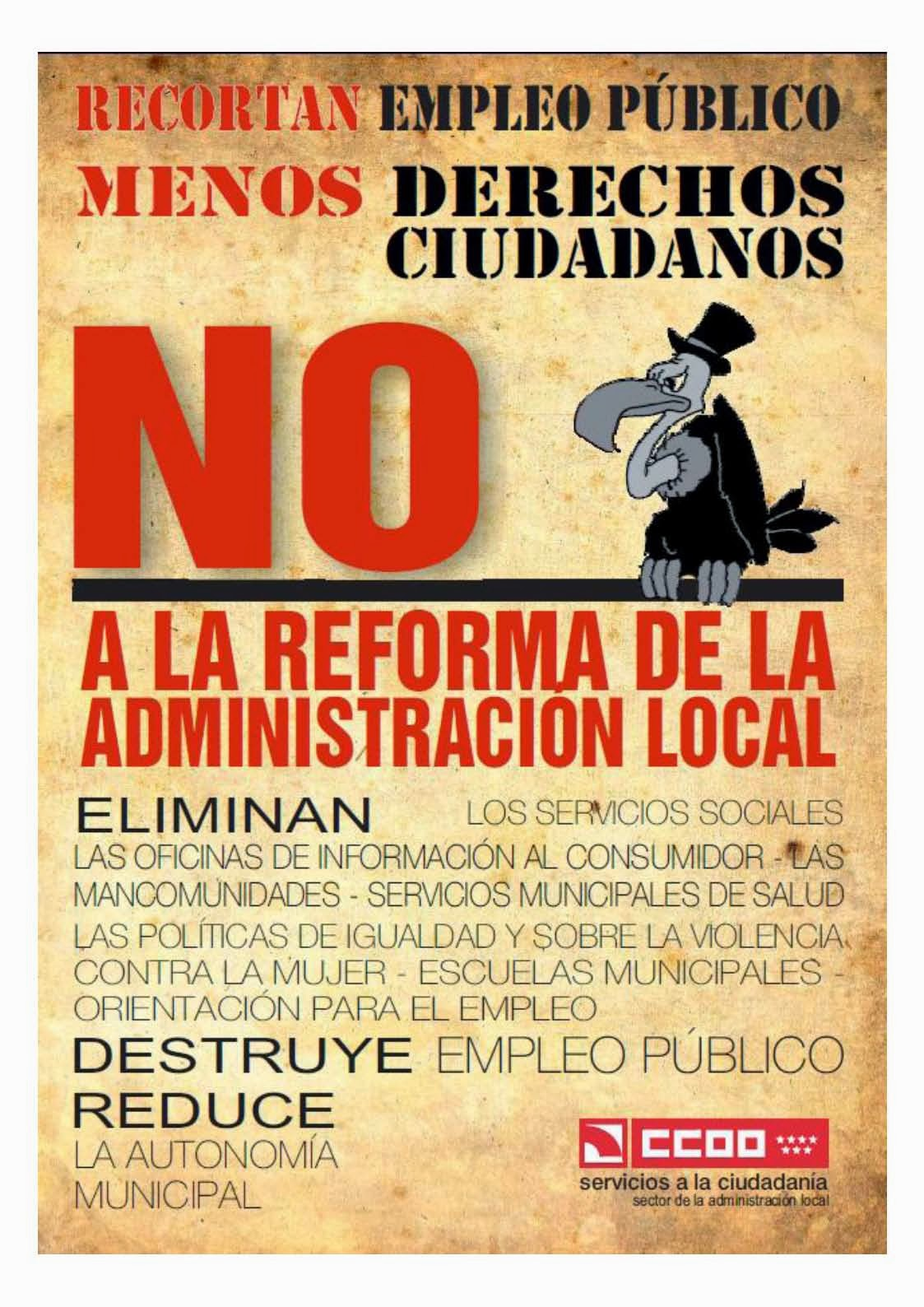 NO A LA REFORMA DE LA ADMINISTRACIÓN LOCAL