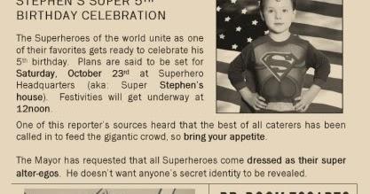 The purple patch superhero birthday stopboris Choice Image
