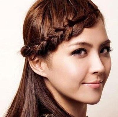 Kumpulan Model Rambut Kepang Yang Di Pakai Artis Ternama - Gaya rambut pendek kepang