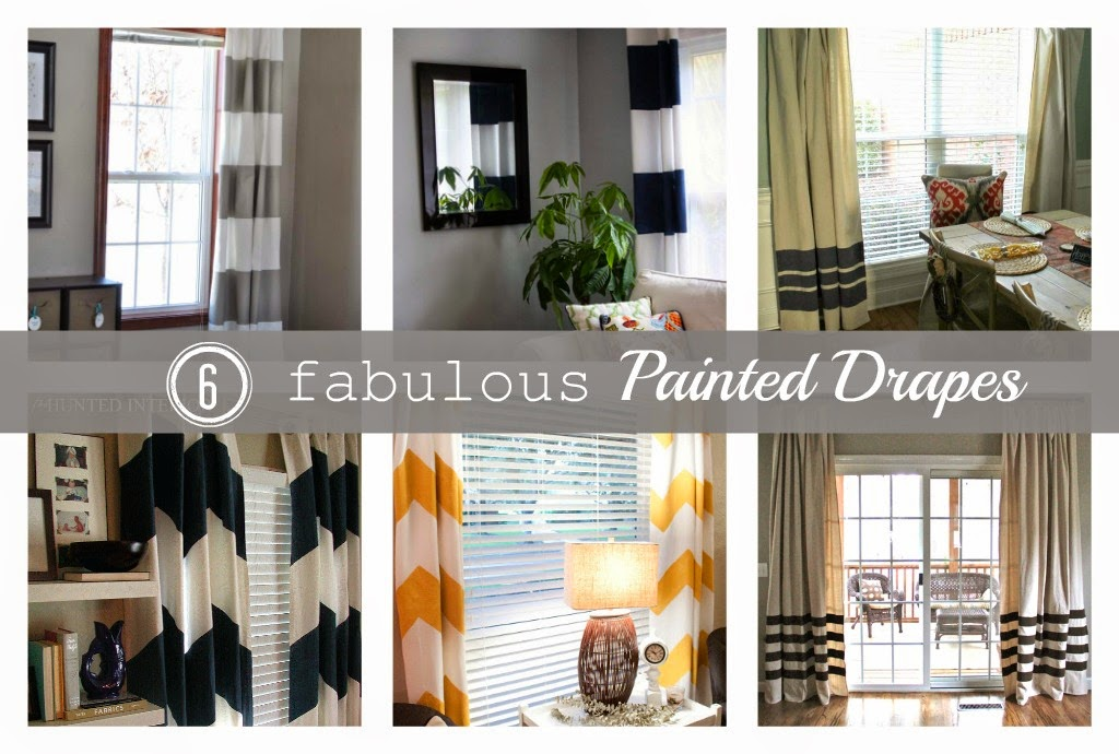 painted drapes - the colored door