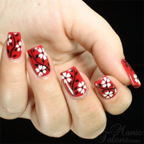 Floral Manicure with Akzéntz Gel Play Gel Paints