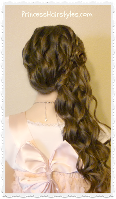 Flower girl hairstyle tutorial, braided rose
