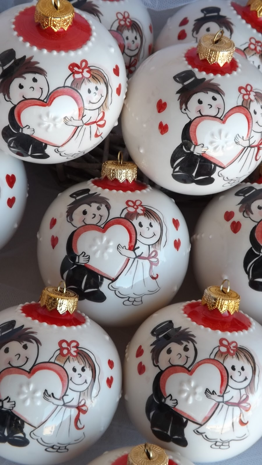 Matrimonio Natale Bomboniere : Ceramica come mestiere palline di natale in