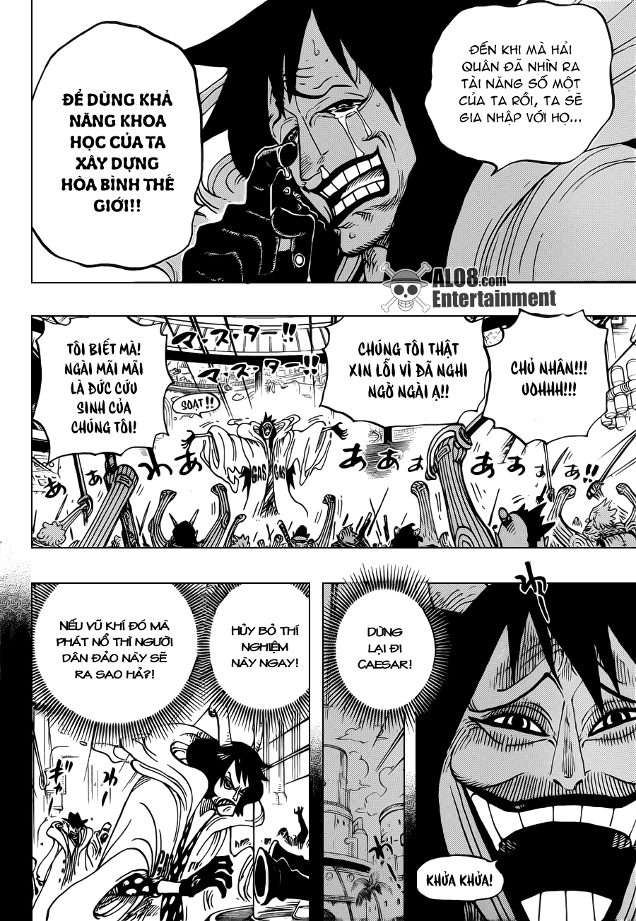 """One Piece Chapter 684: """"Dừng lại, Vegapunk!"""" 016"""