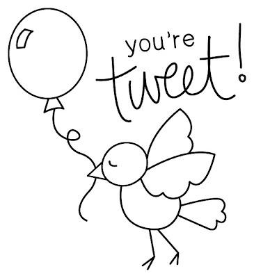 You're Tweet Digital Image by Newton's Nook Designs