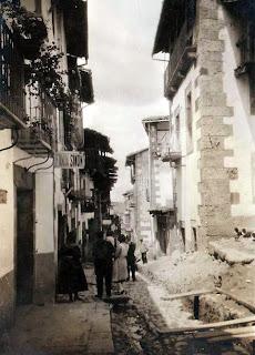 Candelario Salamanca obras en la calle Mayor en 1932