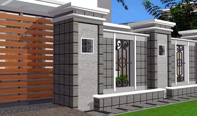 Rumah minimalis tentu semua aspek harus dicocokkan dan disesuaikan termasuk halaman dan p Inilah Contoh Pagar Kayu Rumah Minimalis Terbaru 2014