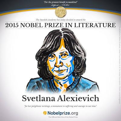 Svetlana Alexievich, irodalmi Nobel-díj, Szvetlana Alekszijevics, irodalom, Nobel-díj,