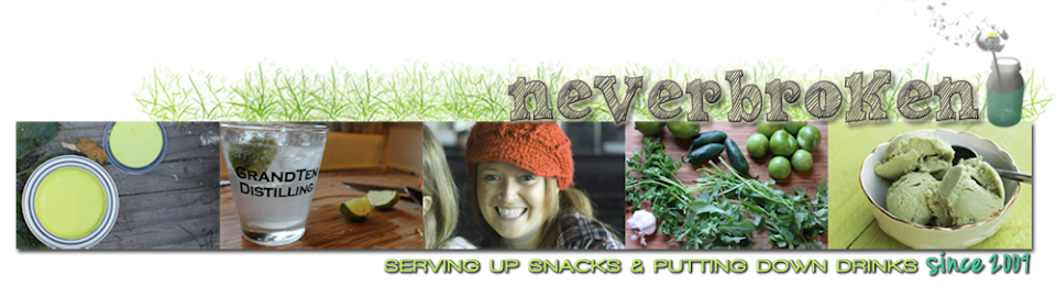neverbroken. serving up snacks & putting down drinks.