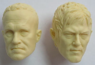 ThreeZero The Walking Dead 1/6 Scale Daryl & Merle Head Sculpts