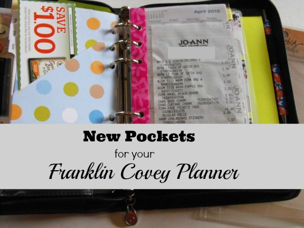pockets for the Franklin Covey planner