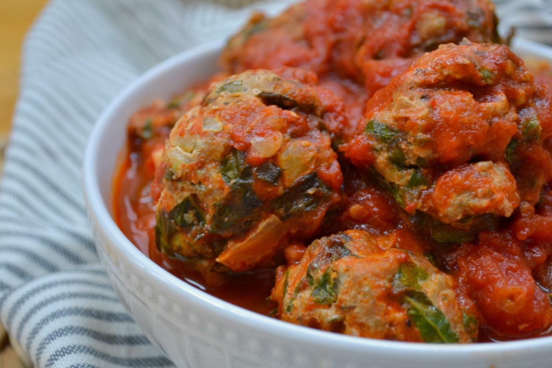 Spinach Turkey Meatballs | www.kandktestkitchen.com