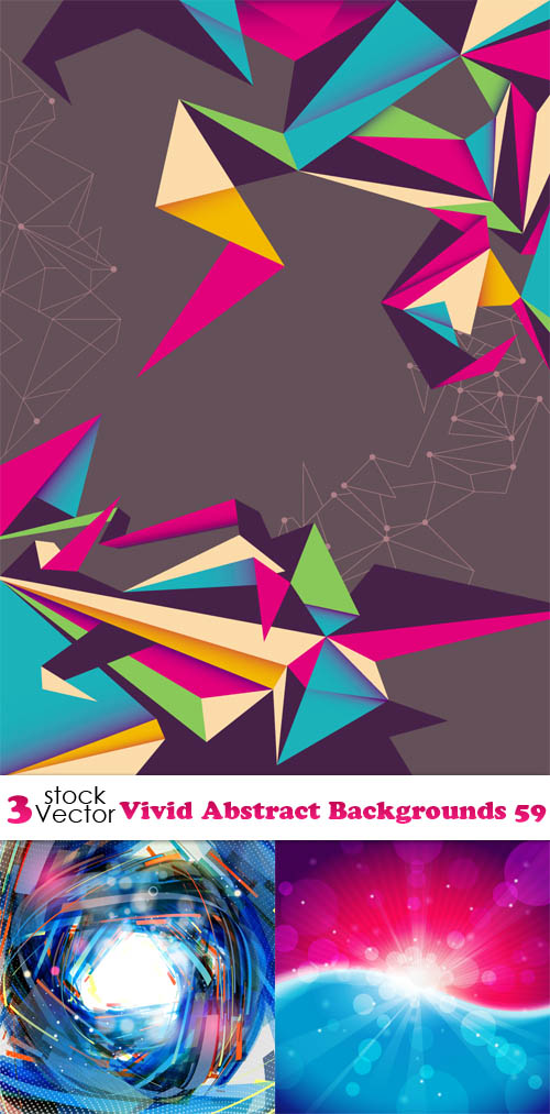 Vivid Abstract Vector Backgrounds Free Download