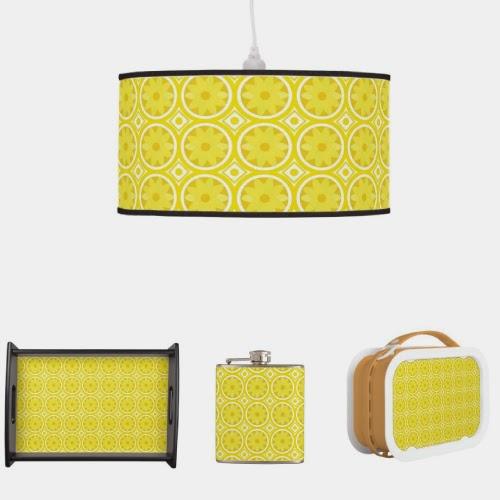 CaraChengs design Home Decor Lemon Slices pattern