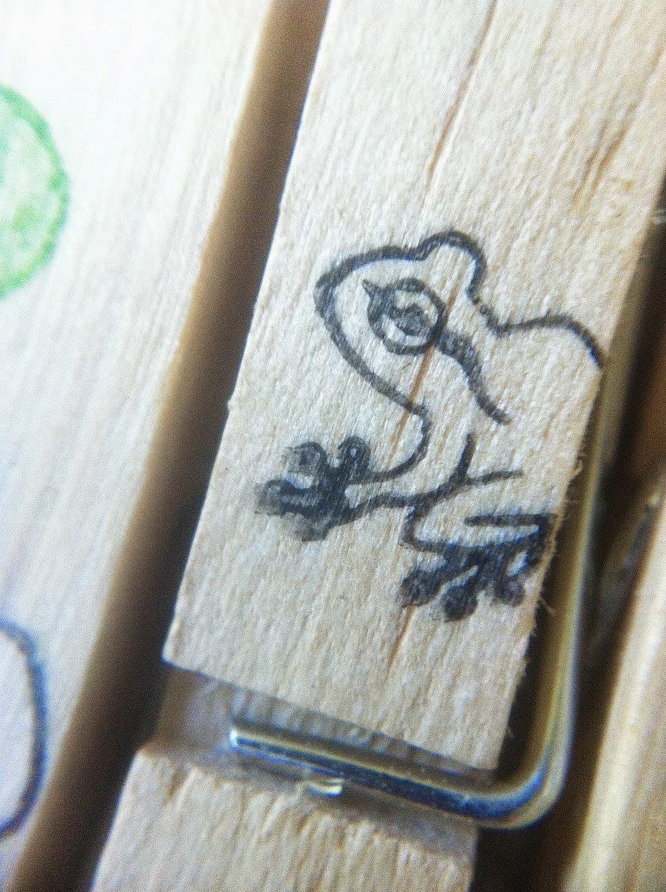 Upcycling - Tuesday Kindergeburtstags-Vorbereitungen Makro Frosch