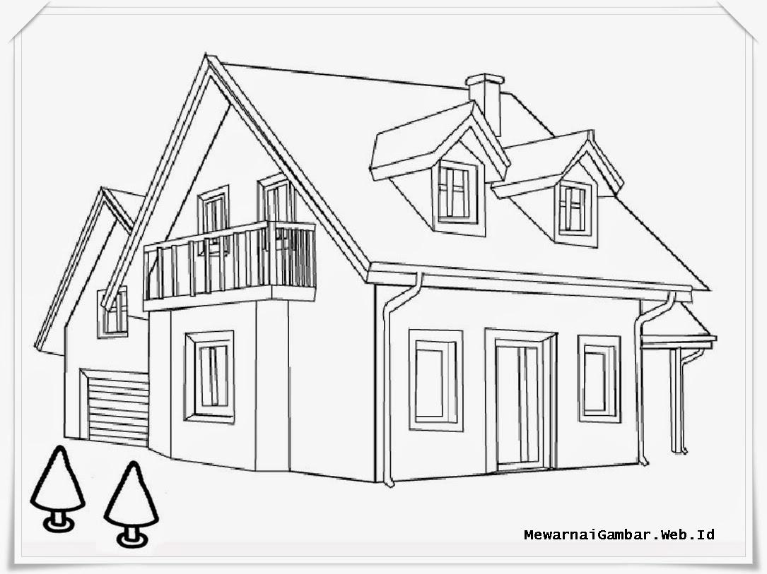 Раскраска про дом