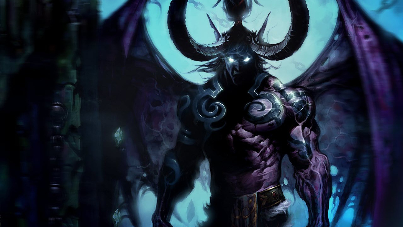 Illidan Nightelf Demon Hunter Fantasy Wallpaper