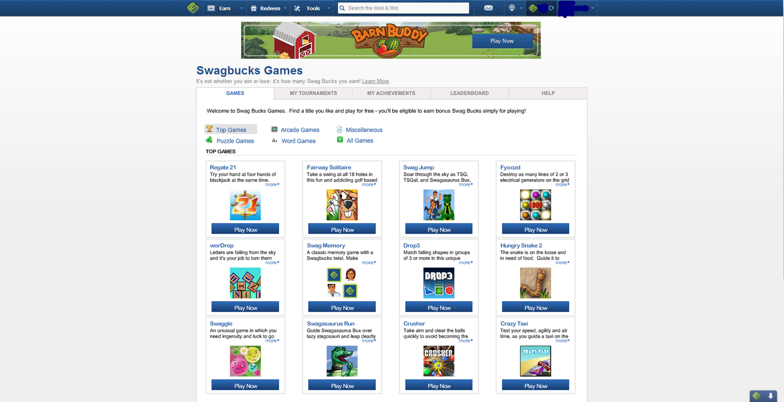 Last But Not Least You Can Play Games For Swagbucks On There Website Some  Of The Games Are Really Fun And Your Basically Earning Money From Playing  Them !