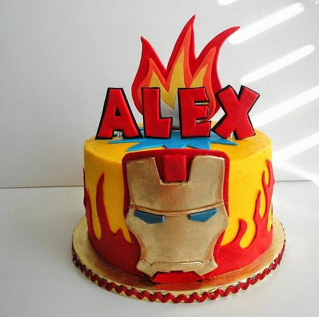Diseño de Tortas Decoradas de Iron Man