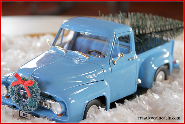 Toy inspired Christmas touches, by Creative Cain Cabin, featured on Funky Junk Interiors