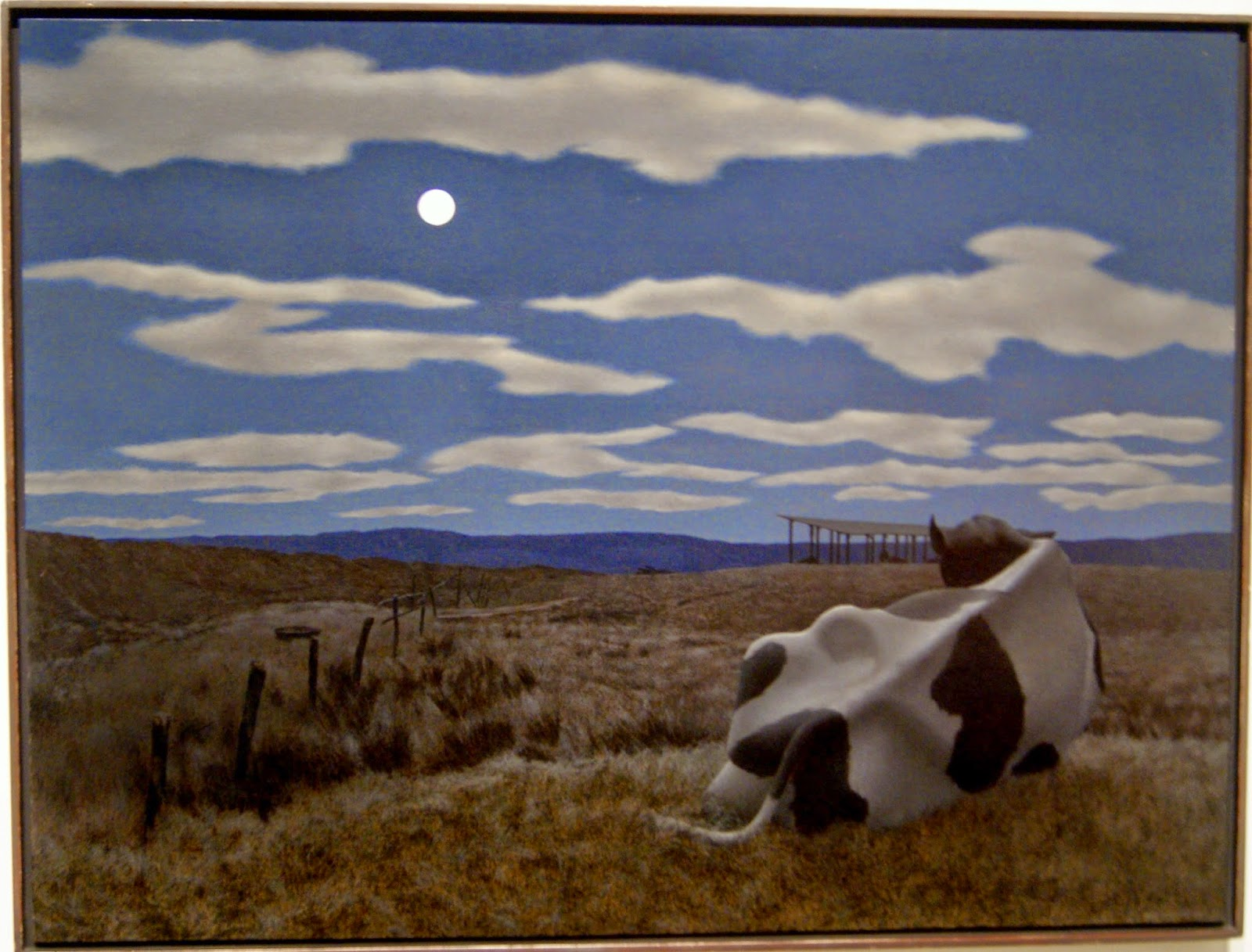 Alex Colville Exhibit at Art Gallery of Ontario in Toronto, Moon and Cow, 1963, paintings, art, artmatters, culture,ontario, Canadian Artist, Painter, Canada