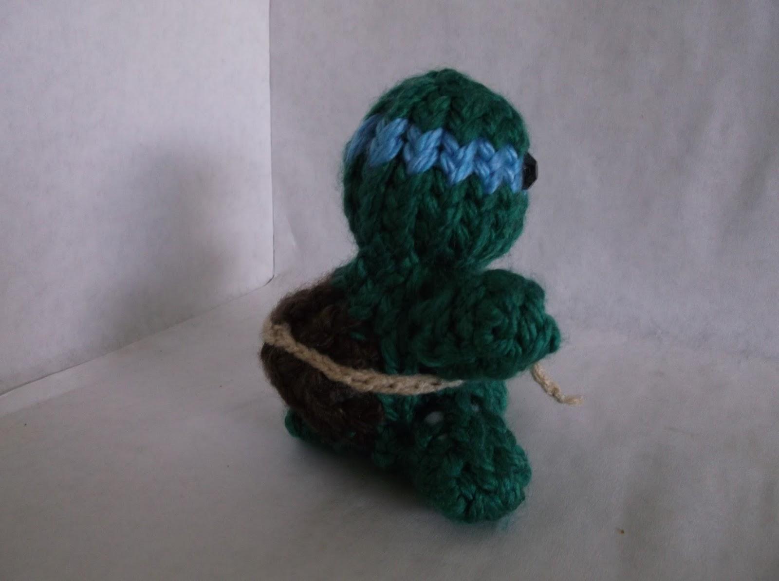 The Loom Muse : How to Loom Knit a Ninja Turtle Amigurumi