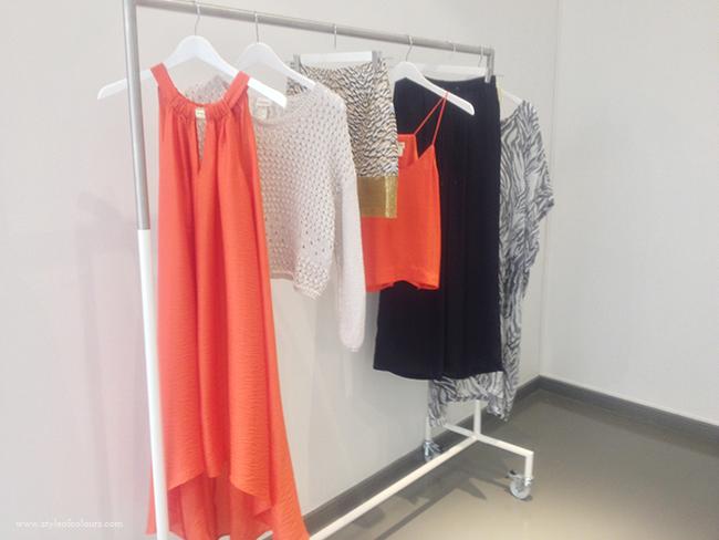 H&M Conscious Orange dip hem dress
