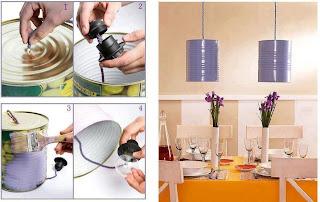 Lampu Gantung Di Meja Dining Daripada Tin Susu