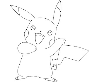 #9 Pikachu Coloring Page