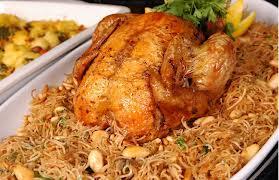 طريقة الدجاج المحشي بالشعرية