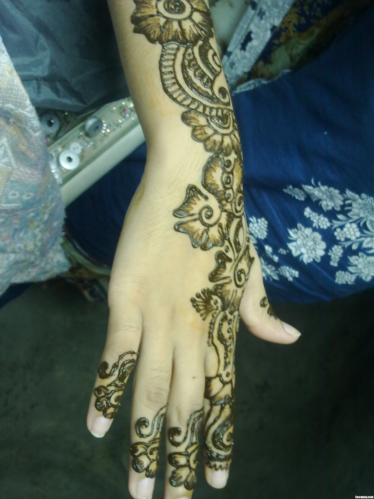 Mehndi Designs New Models : New bridal full hand mehndi design