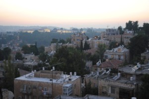 Cityscape in modern day Israel