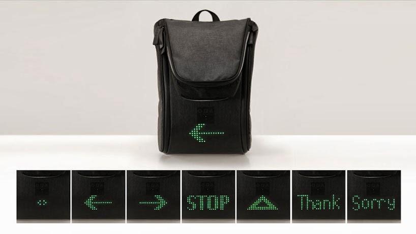 Seil Bag, una mochila con indicadores de dirección