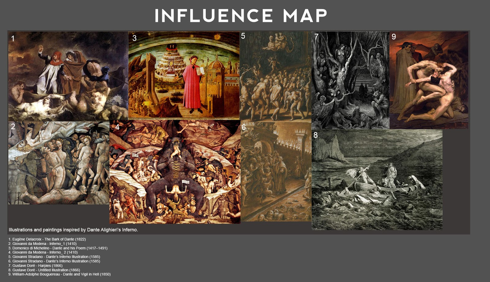 the influence of dantes inferno Dante alighieri first published mon jan 29, 2001 substantive revision fri jul 13, 2018  (or of the hubris that resulted in nimrod's linguistic isolation illustrated in inferno 31)  foster, kenelm, 1977, the two dantes and other studies, berkeley, ca and los angeles: university of california press.