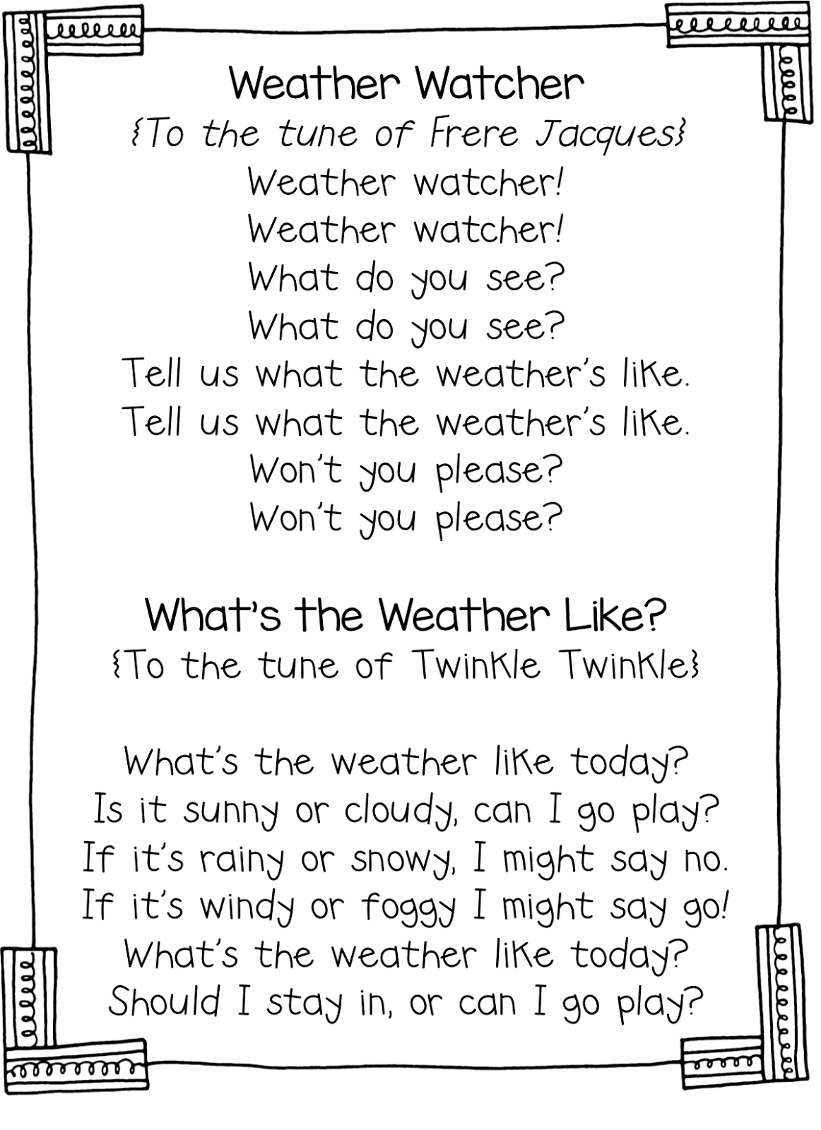 Weather Watcher Song