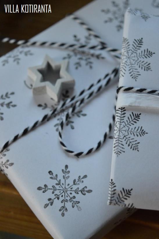 DIY: Itse tehty lahjapaperi