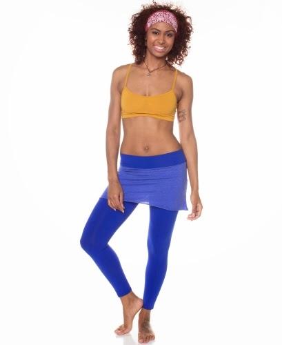 soul%2Bflower%2Borganic%2Bskirted%2Bleggings%2Bin%2Bblue - Yoga for Clear Healthy Skin