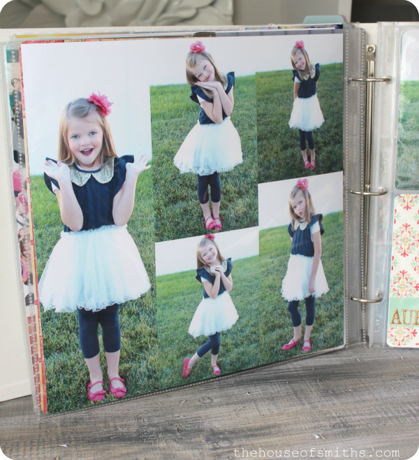 First Day of School Photo idea - persnickety Prints 12x12 photo sheet - thehouseofsmiths.com