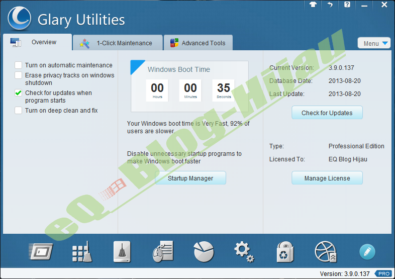 ... Glary Utilities Pro 3.9.1.138 Final + Serial Number | Kho 25PC7